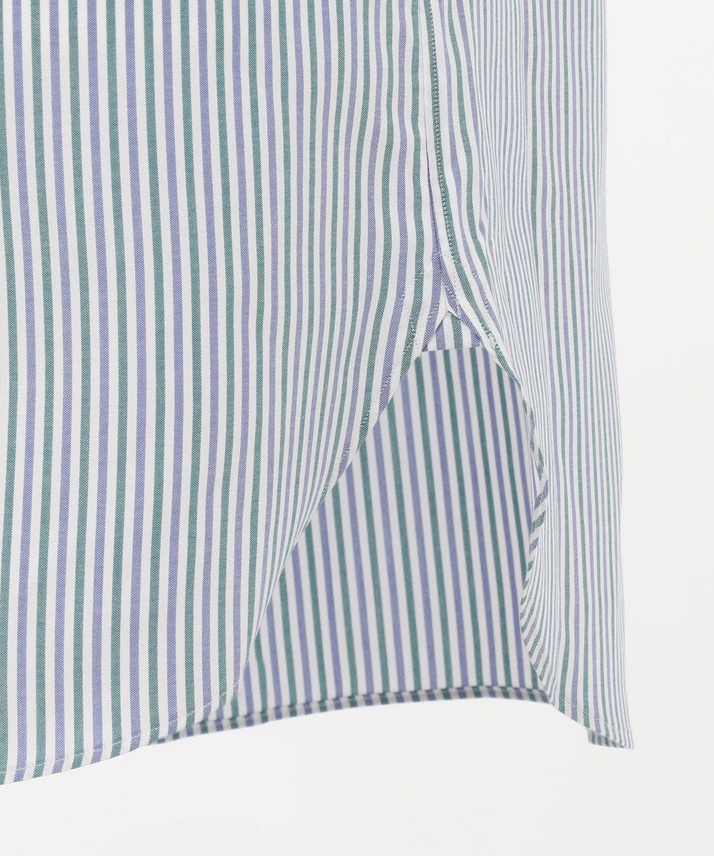 J.PRESS MEN 【Single Needle Tailoring】オルタネートストライプ ドレスシャツ グリーン系1