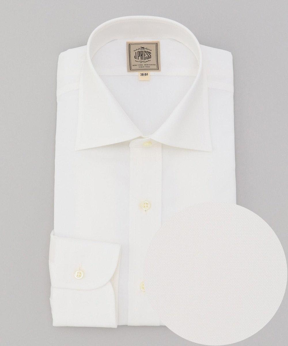 J.PRESS MEN 【Single Needle Tailoring】ブロード シャツ / ワイドカラー ホワイト系