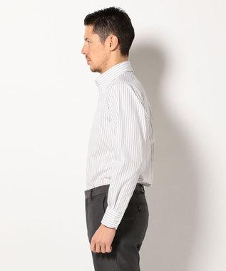 J.PRESS MEN プレミアムプリーツオルタネートストライプB.D シャツ ネイビー系1