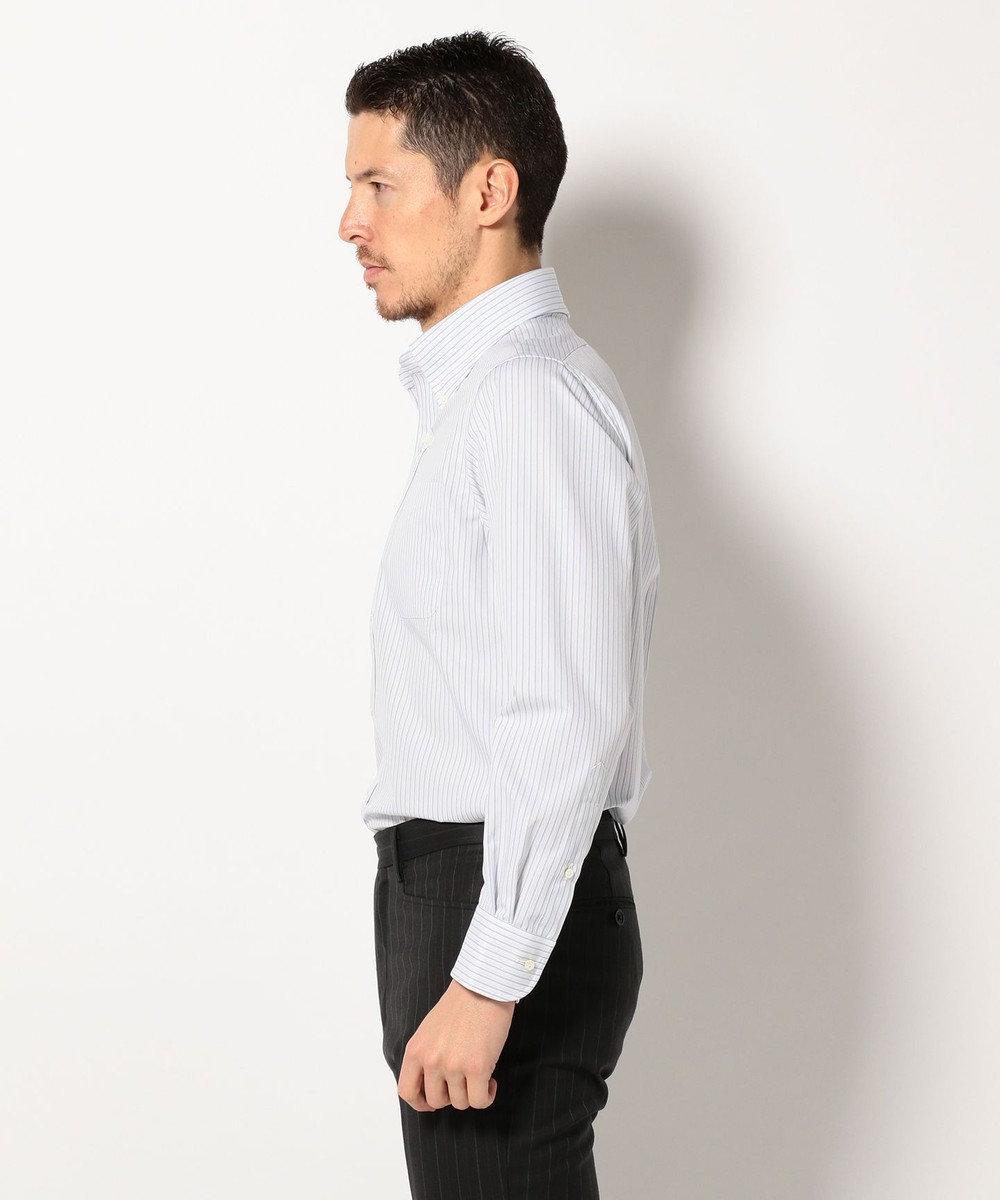J.PRESS MEN プレミアムプリーツファンシーストライプB.D シャツ サックスブルー系1