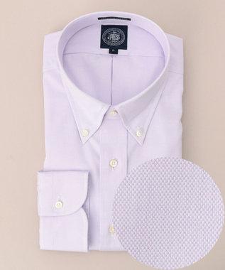 J.PRESS MEN 【キングサイズ】プレミアムプリーツピンオックスBDシャツ ライラック系
