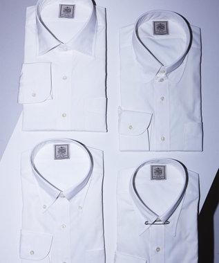J.PRESS MEN 【SINGLE NEEDLE TAILORING】ピンホール シャツ ホワイト系