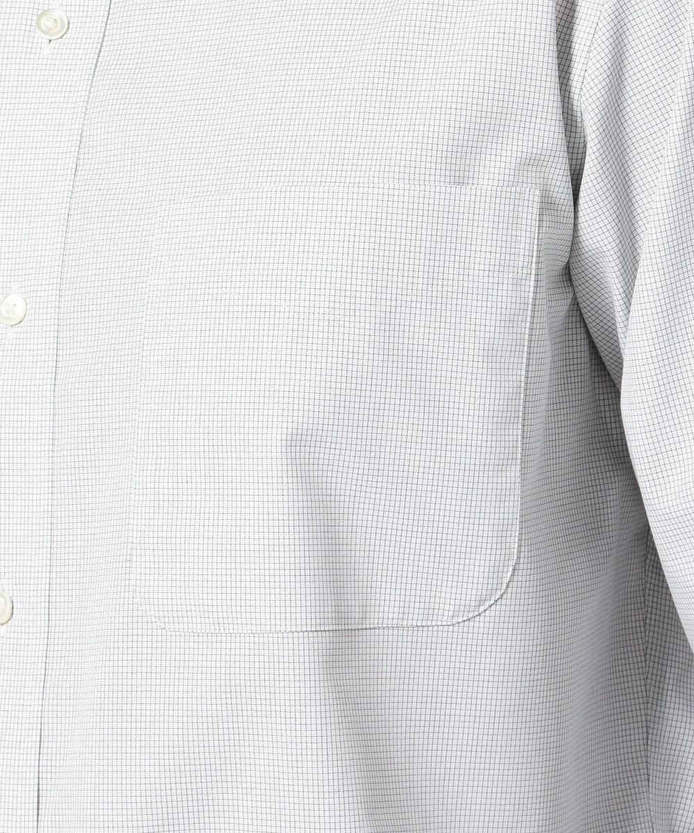 J.PRESS MEN 【キングサイズ】PREMIUM PLEATSマイクログラフチェック BD シャツ グレー系3