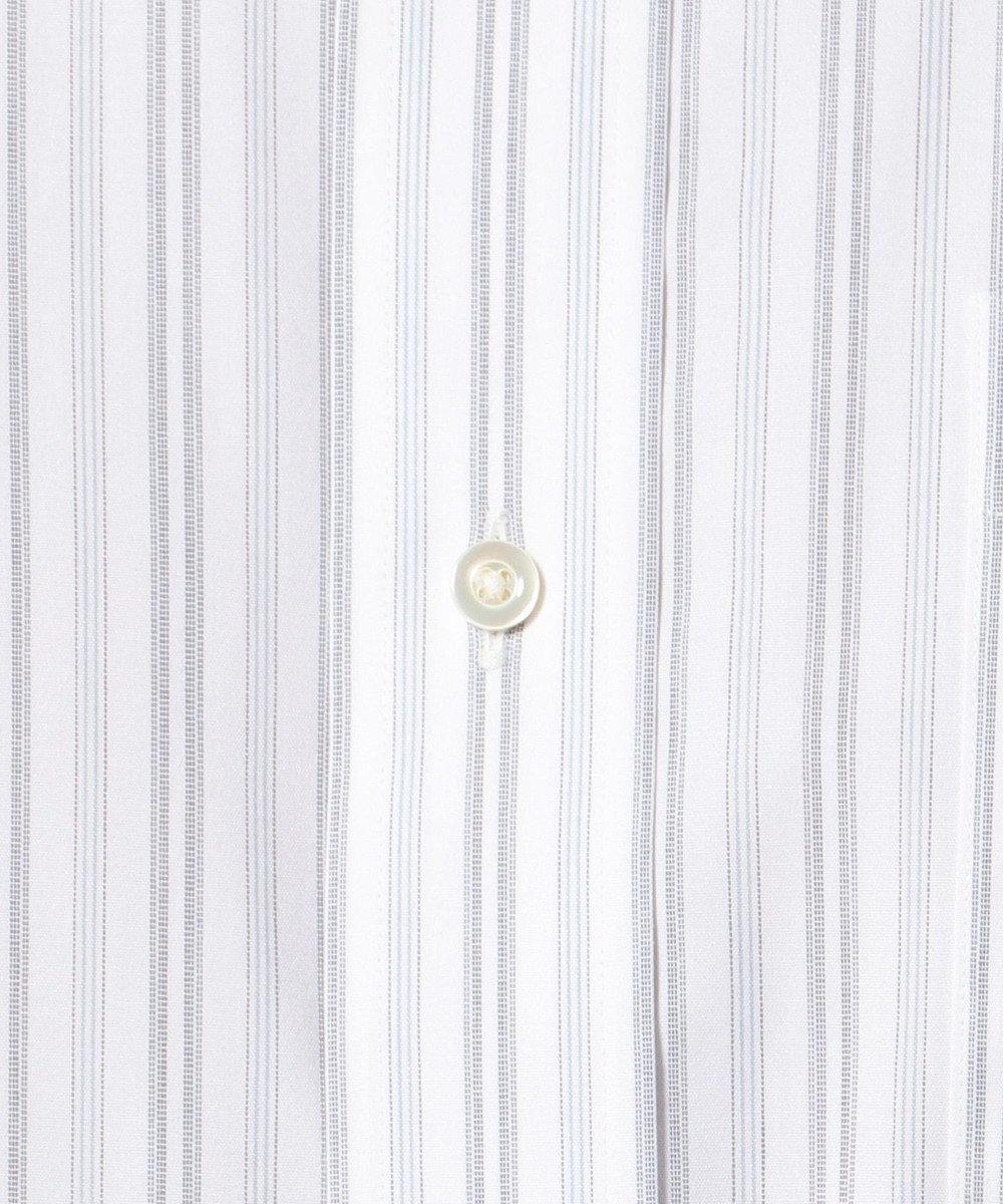 J.PRESS MEN 【キングサイズ】PREMIUM PLEATS オルタネートストライプ シャツ グレー系1