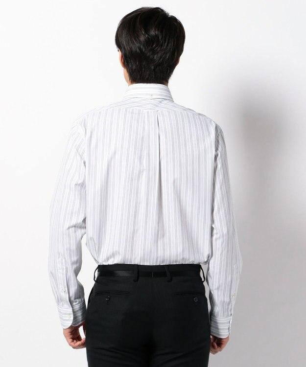 J.PRESS MEN 【キングサイズ】PREMIUM PLEATS オルタネートストライプ シャツ