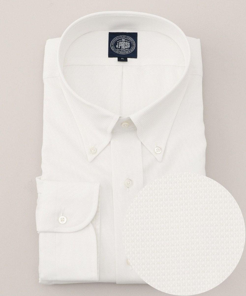 J.PRESS MEN 【キングサイズ】PREMIUM PLEATSピンヘッド BD シャツ ホワイト系