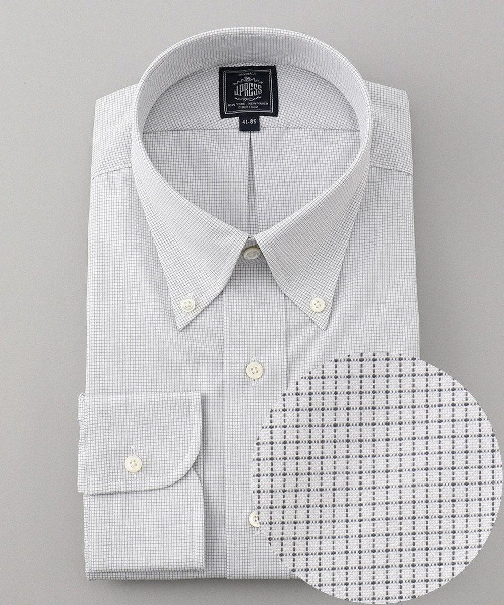 J.PRESS MEN 【一部店舗・WEB限定】ピンヘッドチェック ドレスシャツ / ボタンダウン グレー系3