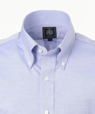 J.PRESS MEN 【PREMIUM PLEATS / 形態安定】ピンオックスボタンダウン 半袖シャツ ダルブルー系
