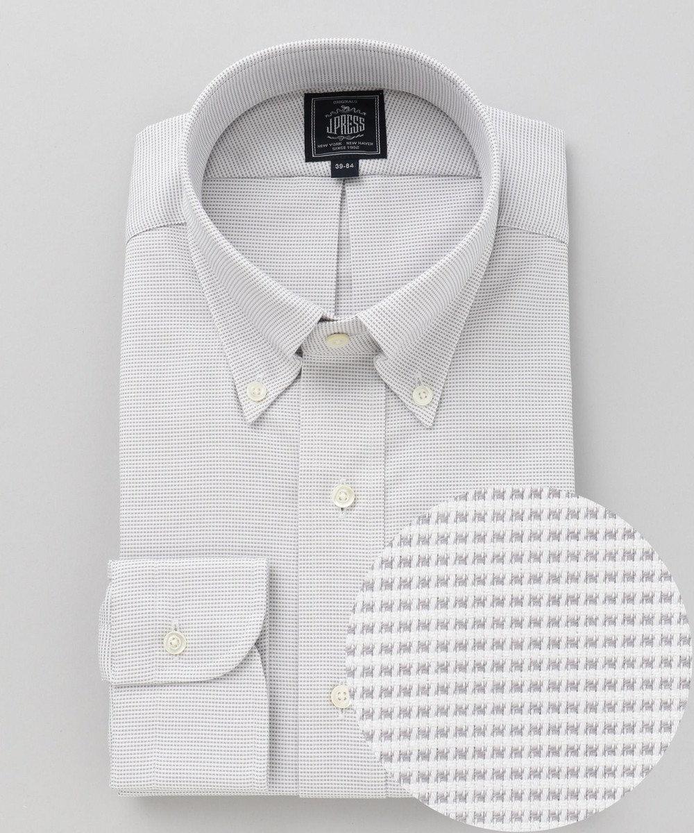 J.PRESS MEN 【形態安定】PREMIUM PLEATS / ピンヘッド シャツ ライトグレー系