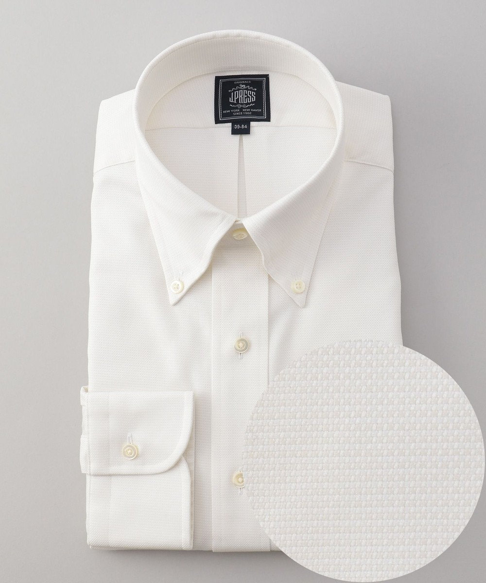 J.PRESS MEN 【形態安定】PREMIUM PLEATS / ピンヘッド シャツ ホワイト系