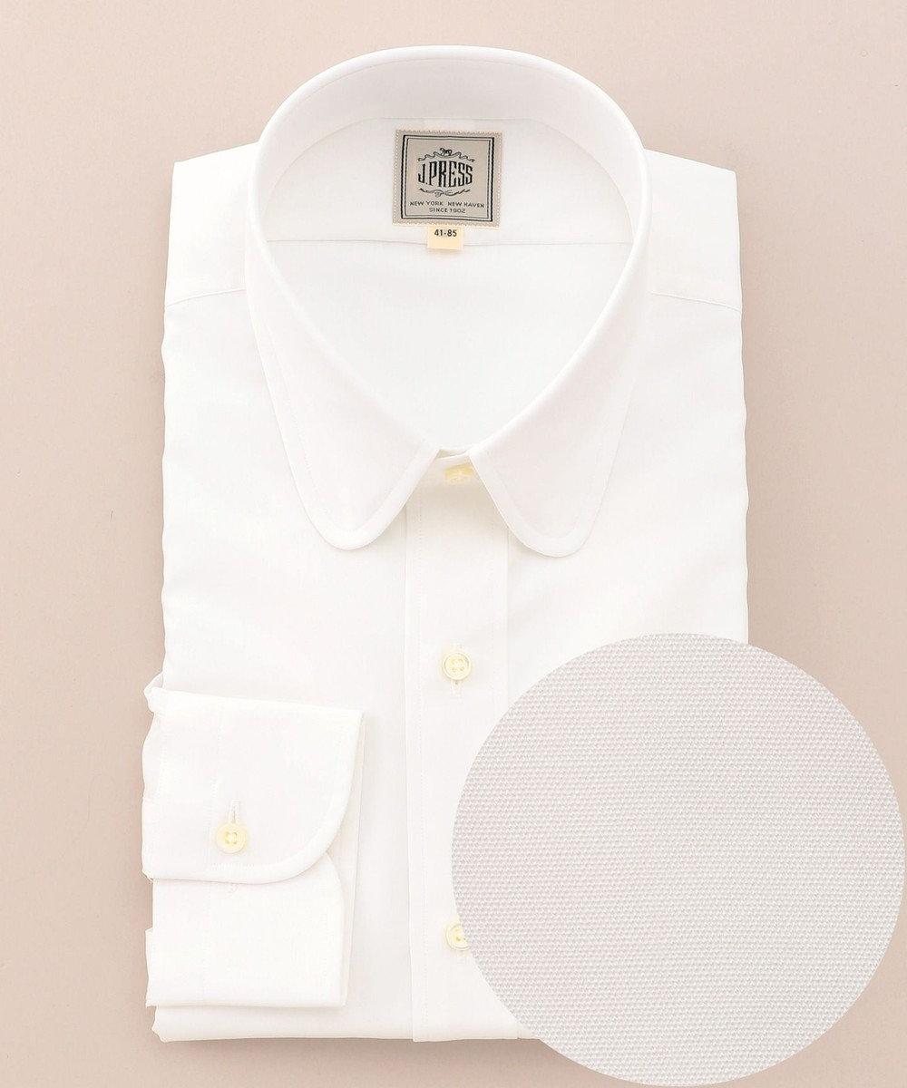 J.PRESS MEN 【SINGLE NEEDLE TAILORING】ラウンドカラー シャツ(検索番号W136) ホワイト系