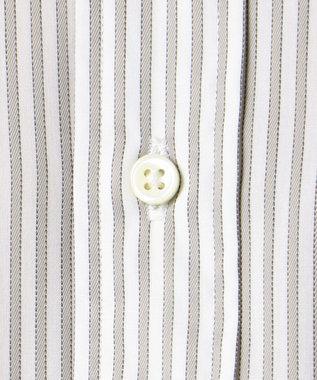J.PRESS MEN 【SINGLE NEEDLE TAILORING】ファンシーストライプ ワイド シャツ ライトグレー系1