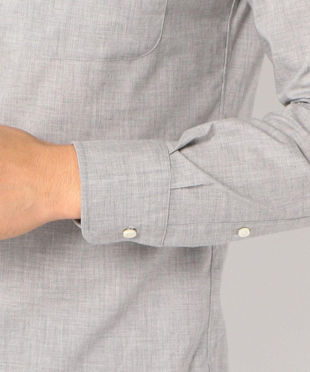 J.PRESS MEN メランジコットンB.D シャツ ライトグレー系