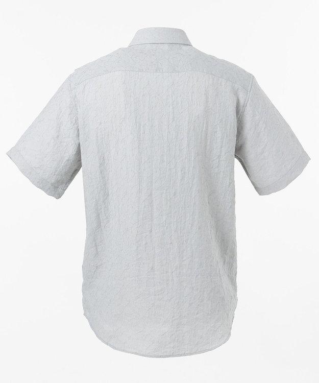 CK CALVIN KLEIN MEN シャドウライナーガーゼ 半袖シャツ / レギュラーカラー