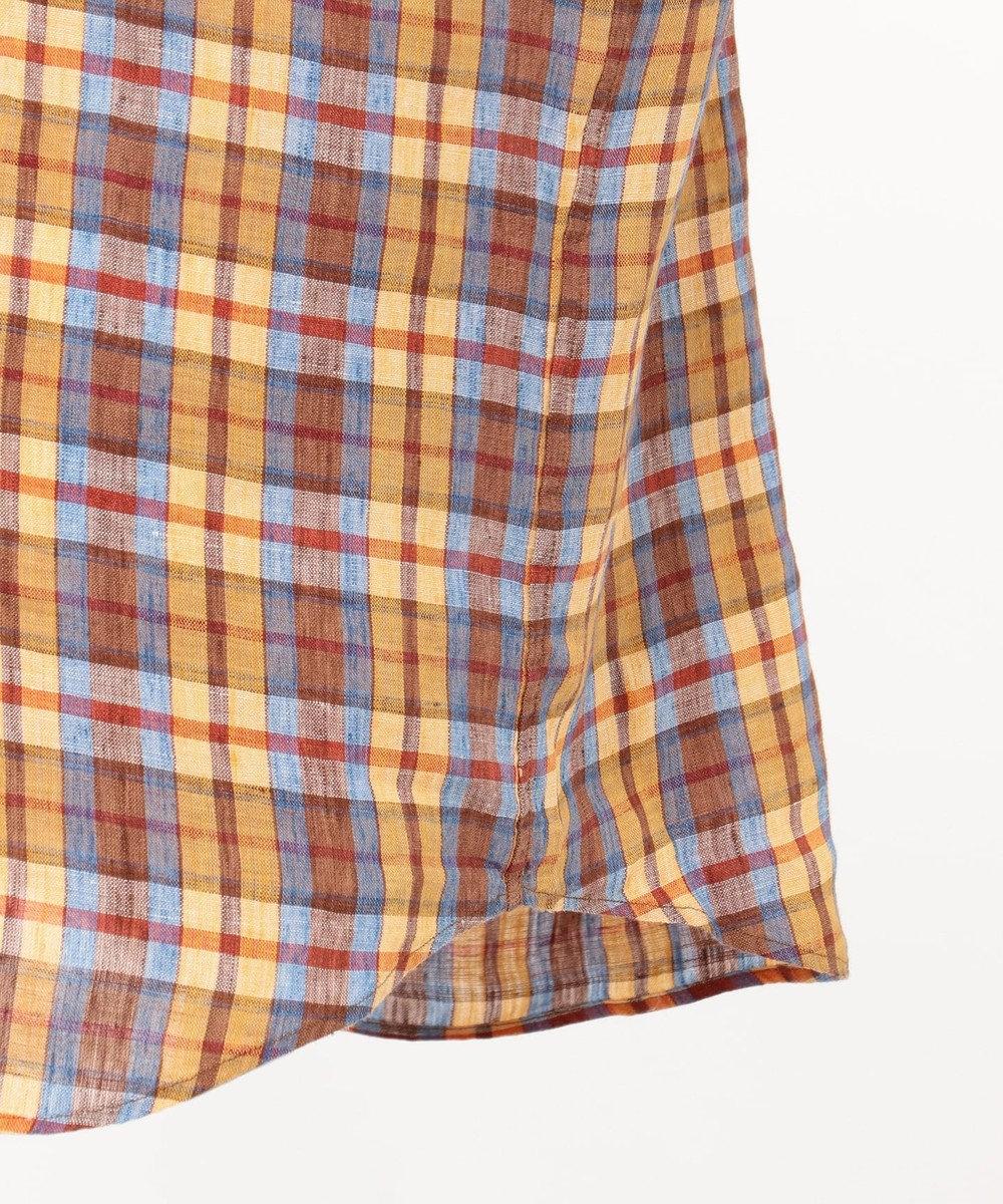 JOSEPH ABBOUD 【CANCLINI】マドラスチェック シャツ オレンジ系4