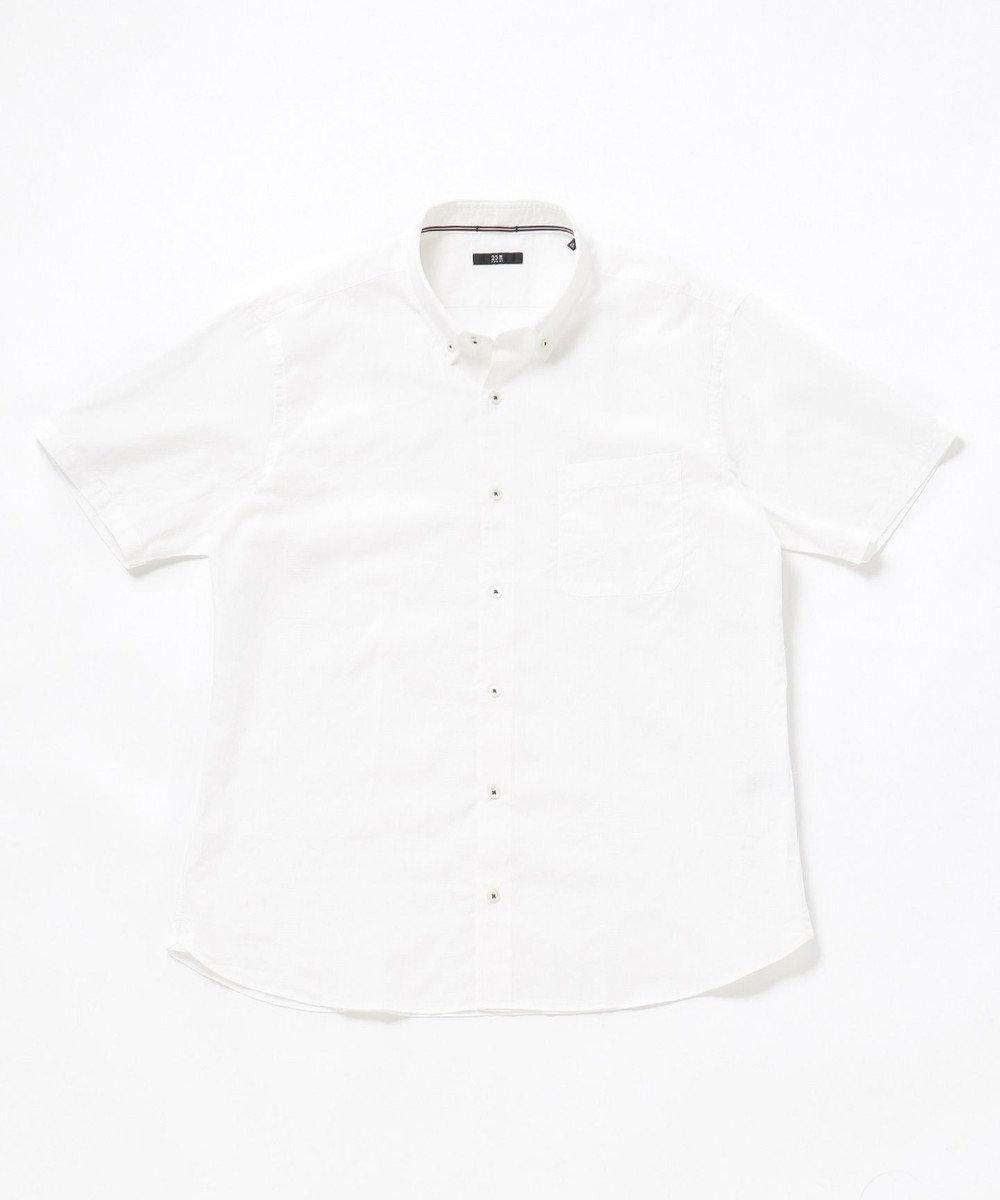 23区HOMME 【キングサイズ】コットンジャガードシャツ ホワイト系