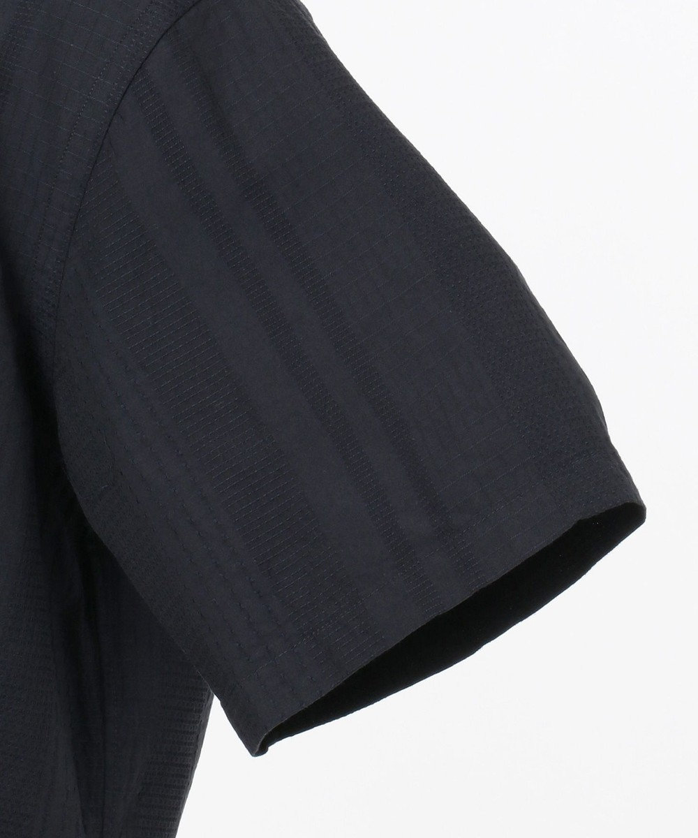 23区HOMME 【キングサイズ】コットンジャガードシャツ ネイビー系