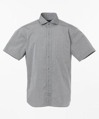 23区HOMME シャンブレードットジャガードシャツ ライトグレー系