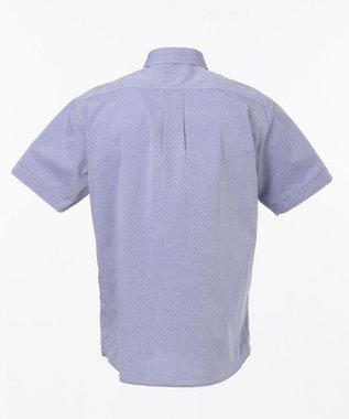 23区HOMME シャンブレードットジャガードシャツ ブルー系
