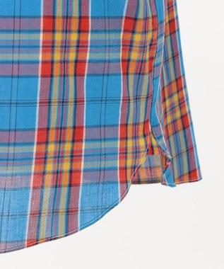 J.PRESS MEN スーパーマドラス 半袖シャツ / ボタンダウン ブルー系3