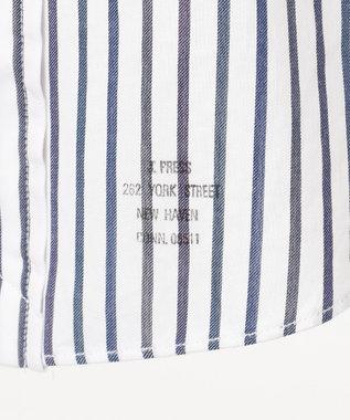 J.PRESS MEN ダブルチューブロールアップ マルチチェック ストライプ シャツ ネイビー系1