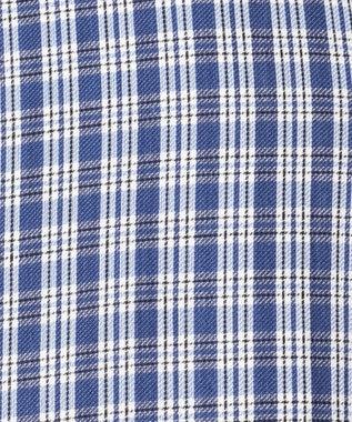 J.PRESS MEN ダブルチューブロールアップ マルチチェック ストライプ シャツ ブルー系3