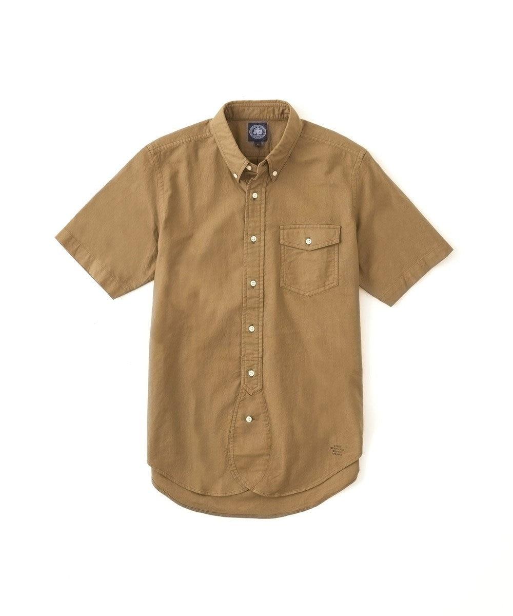 J.PRESS MEN AMERICANOX 半袖B.Dシャツ カーキ系