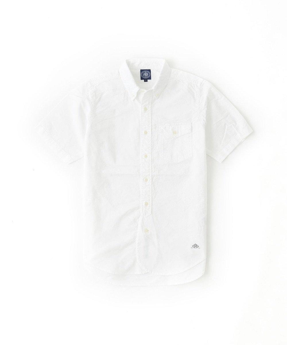 J.PRESS MEN AMERICANOX 半袖B.Dシャツ ホワイト系