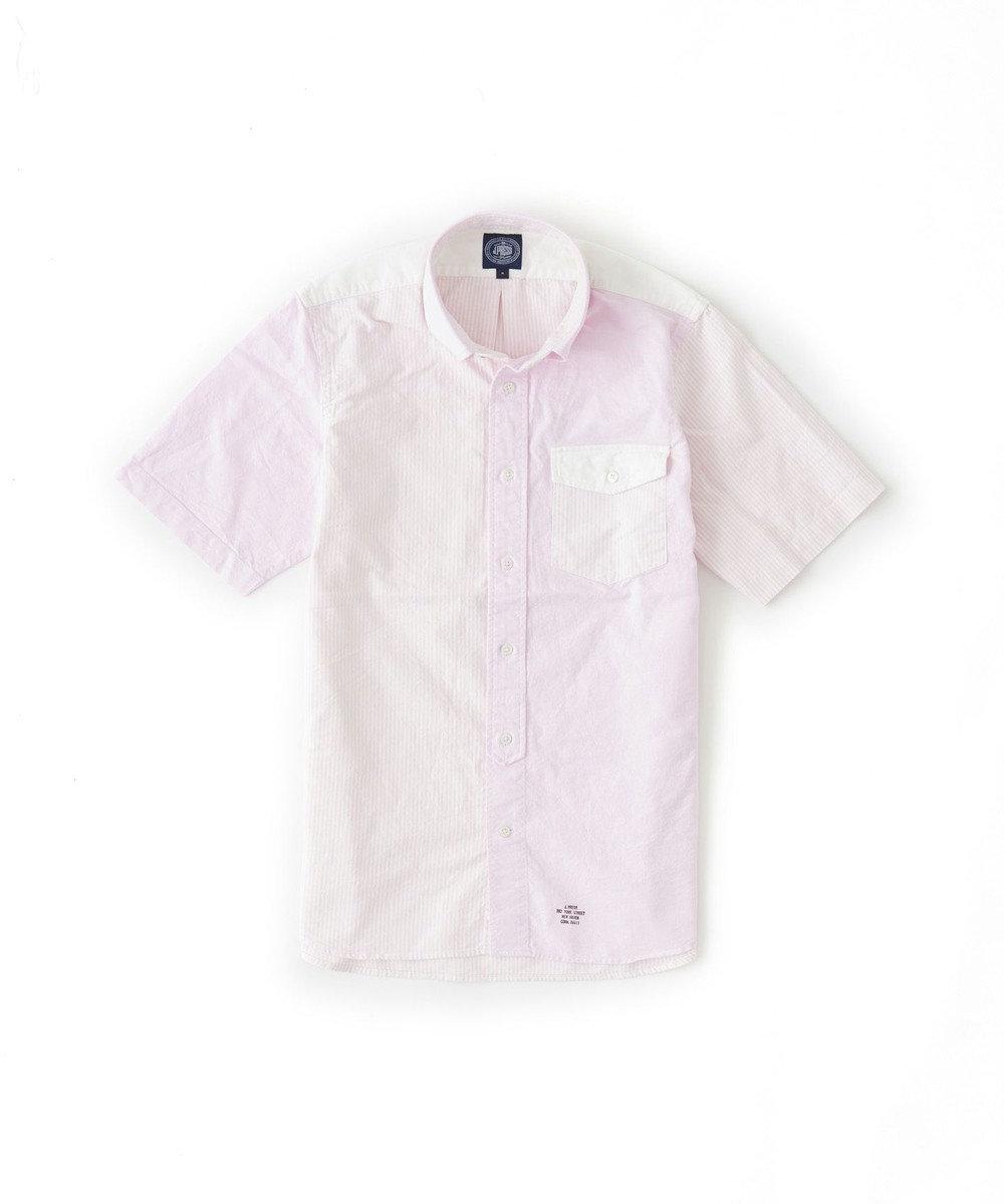J.PRESS MEN ヴィンテージオックスクレイジー 半袖シャツ ピンク系8