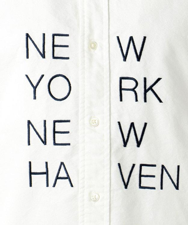 J.PRESS MEN オックス /  NEW YORKロゴ半袖 シャツ