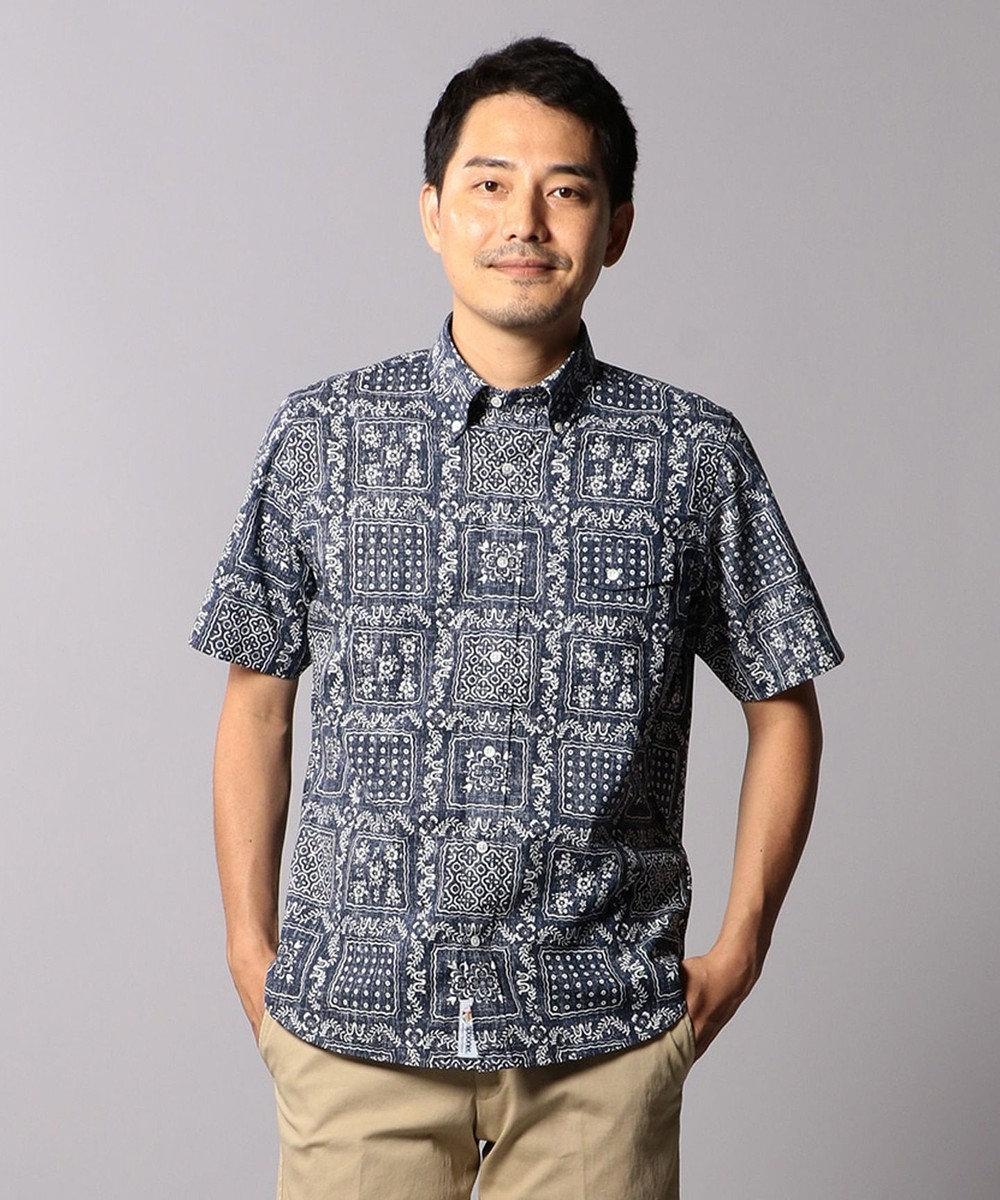 J.PRESS MEN 【レインスプーナー】ボタンダウン半袖 シャツ ネイビー系5
