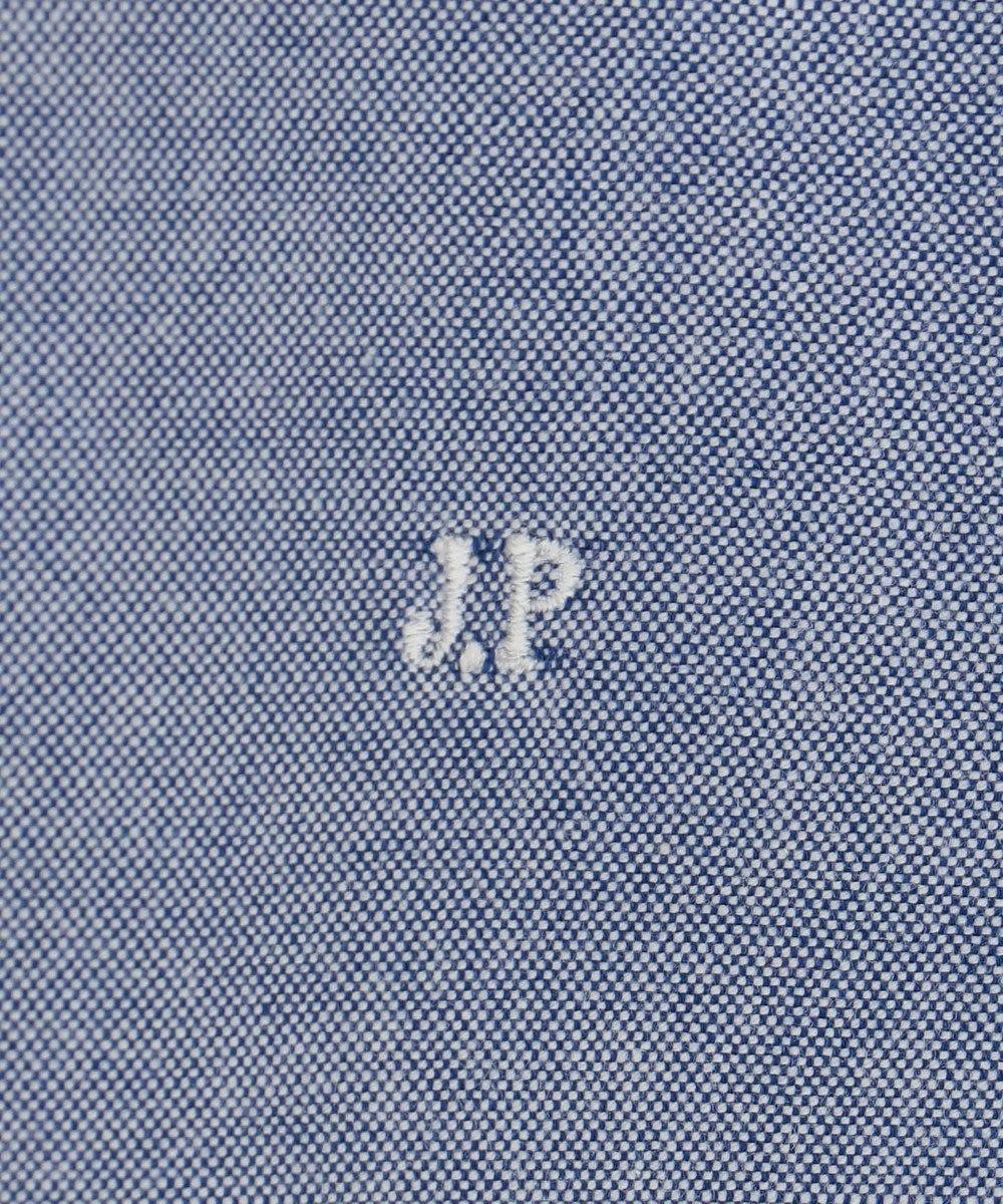J.PRESS MEN ピンオックス / ポロカラー半袖 シャツ サックスブルー系
