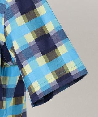 J.PRESS MEN 【Profilo】ドビーマルチチェック/ストライプ 半袖シャツ ネイビー系9