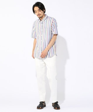 J.PRESS MEN 【Profilo】ドビーマルチチェック/ストライプ 半袖シャツ ホワイト系9