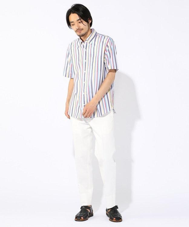 J.PRESS MEN 【Profilo】ドビーマルチチェック/ストライプ 半袖シャツ