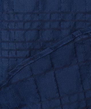 CK CALVIN KLEIN MEN ソロテックス タックドビーストレッチ シャツ / レギュラーカラー ネイビー系