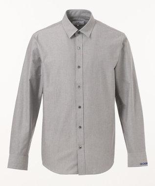 CK CALVIN KLEIN MEN 【ロゴ刺繍】ハードボイルドオックス シャツ ライトグレー系