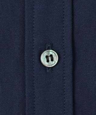 CK CALVIN KLEIN MEN 【ロゴ刺繍】ハードボイルドオックス シャツ ネイビー系