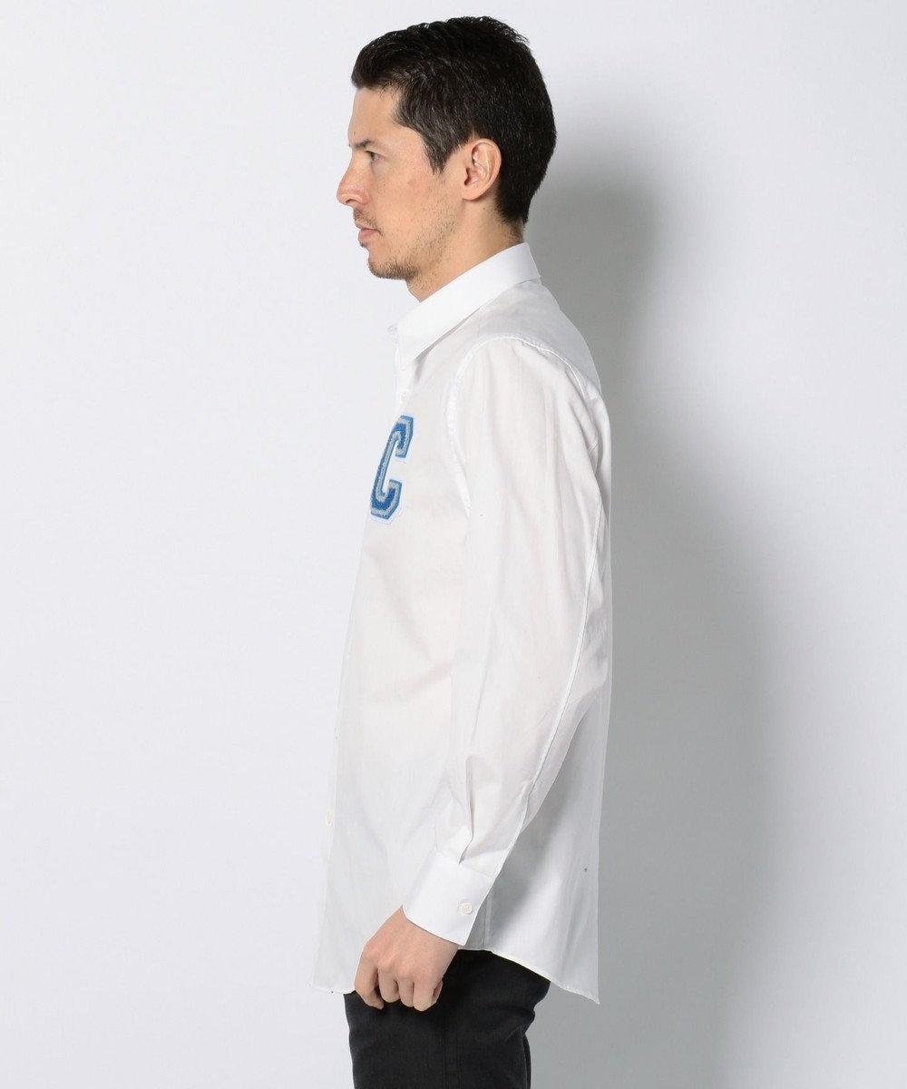 CK CALVIN KLEIN MEN 【大人気ロゴシリーズ】ストラクチュアルオックスフォード シャツ ホワイト系