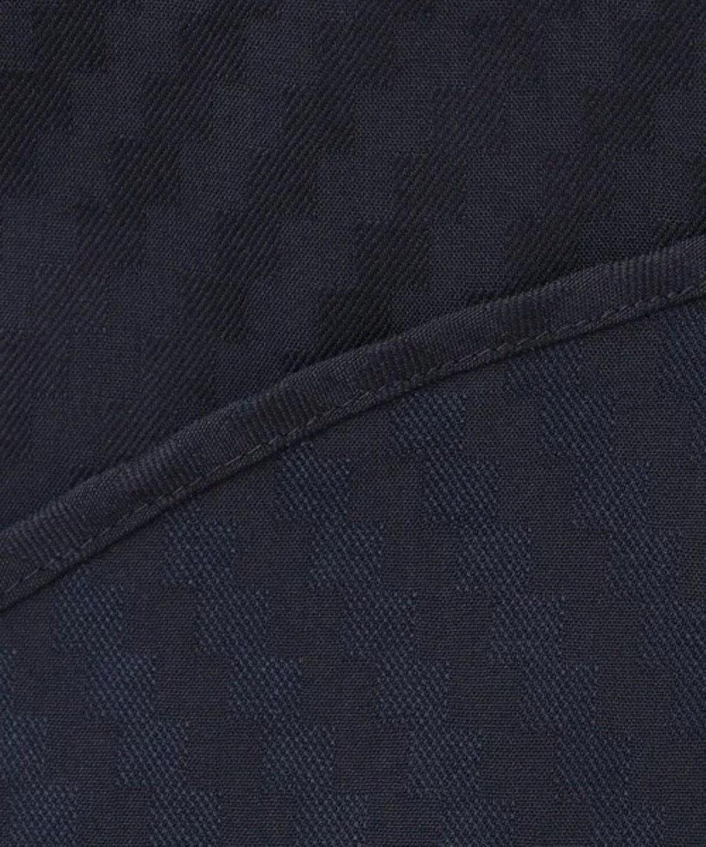 CK CALVIN KLEIN MEN 【キングサイズ】エアリーバイアスドビー シャツ / ホリゾンタルカラー ネイビー系