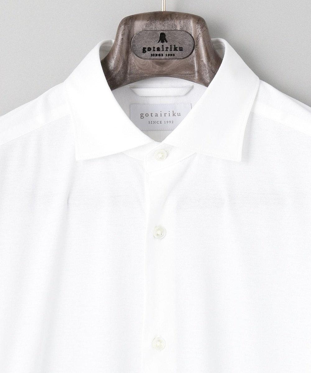 gotairiku ALBINI YARN シルケットスムーズ シャツ_ホワイト無地 ホワイト系