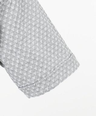 JOSEPH HOMME トライジャガード ウイングカラー 半袖シャツ ライトグレー系