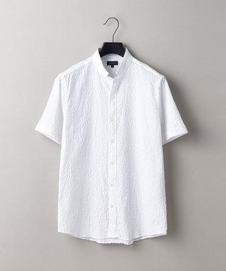 JOSEPH HOMME トライジャガード ウイングカラー 半袖シャツ ホワイト系