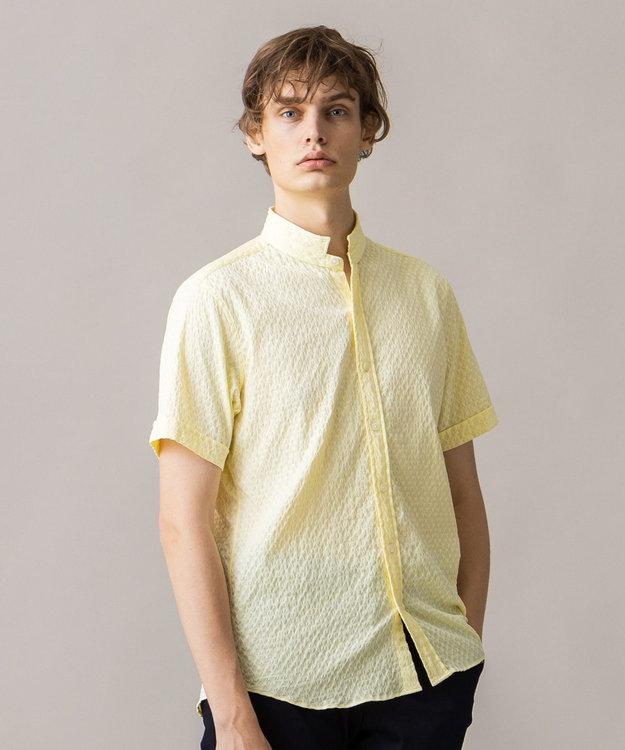JOSEPH HOMME トライジャガード ウイングカラー 半袖シャツ