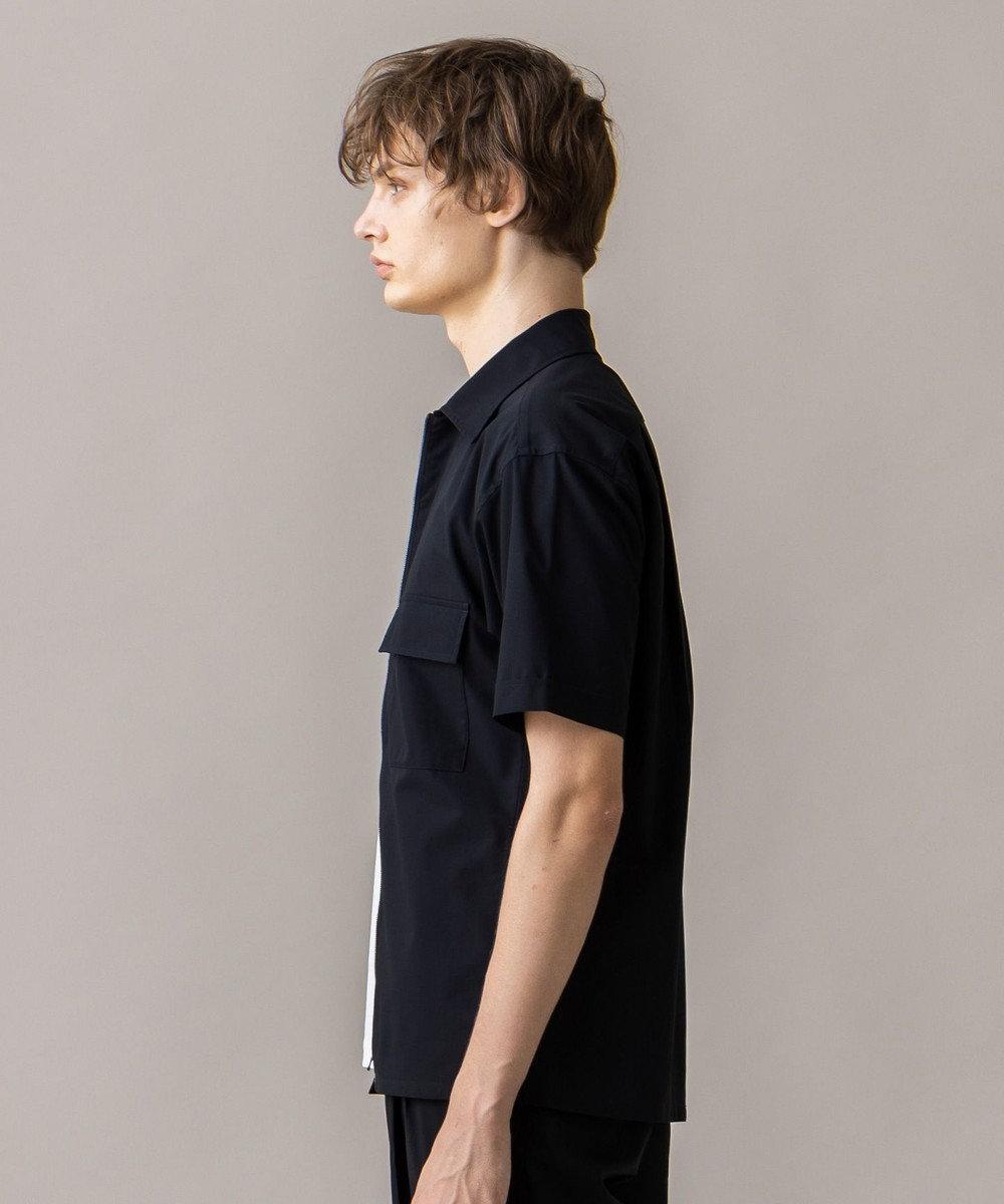 JOSEPH HOMME ハイツイストボイル ジップアップシャツ ブラック系