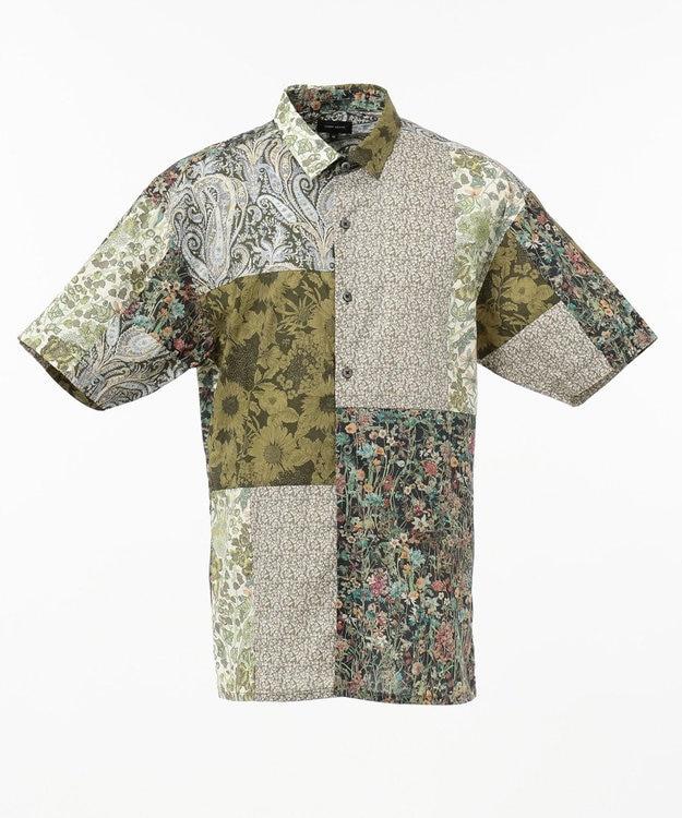 JOSEPH HOMME パッチワークリバティ 半袖シャツ