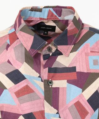 JOSEPH HOMME リバティプリント 半袖シャツ ライトオレンジ系5