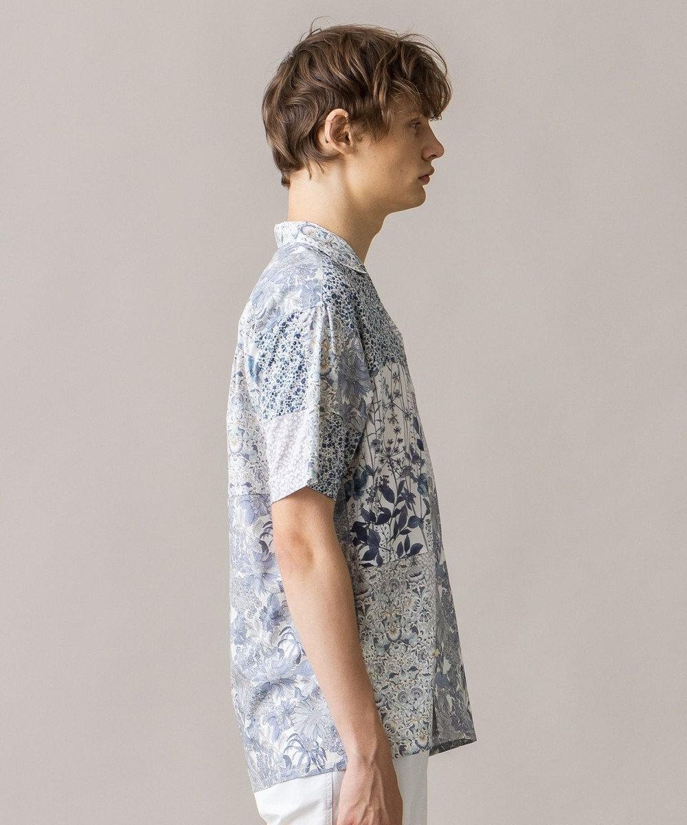 JOSEPH HOMME 【WEB限定】パッチワークリバティ 開襟シャツ ホワイト系3