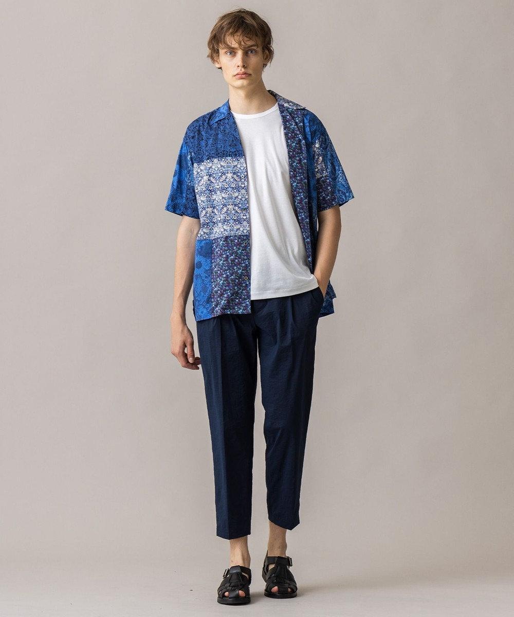 JOSEPH HOMME 【WEB限定】パッチワークリバティ 開襟シャツ ネイビー系3