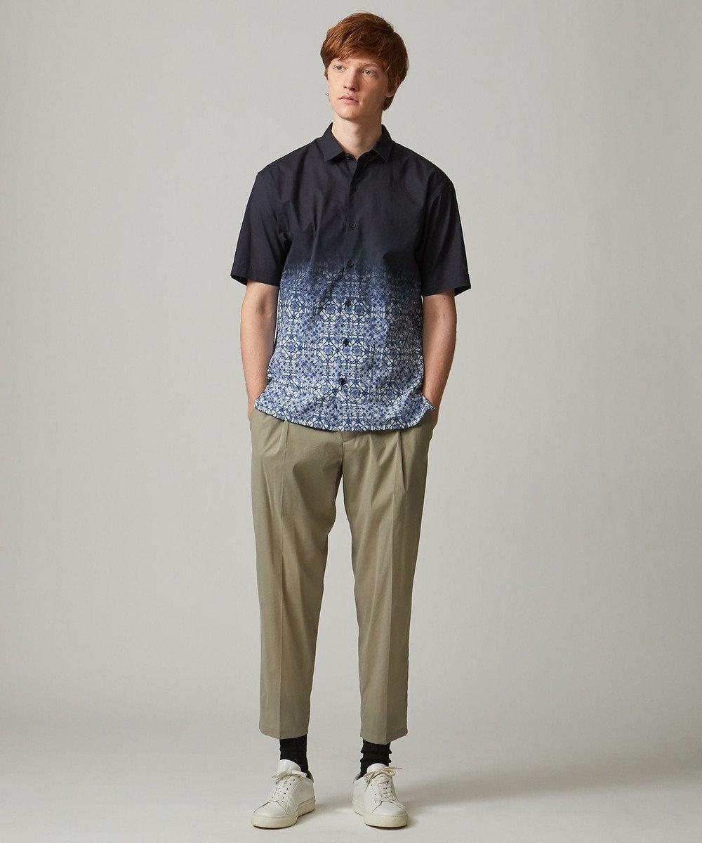 JOSEPH HOMME グラデーションタイル シャツ ネイビー系3